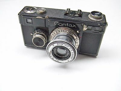 ZEISS IKON CONTAX 1f. WITHf3.5 50mm COLLAPSIBLE TESSAR LENS