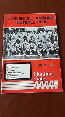 Stevenage Borough V Stansted 28.11. 1983 - Courage Floodlit League