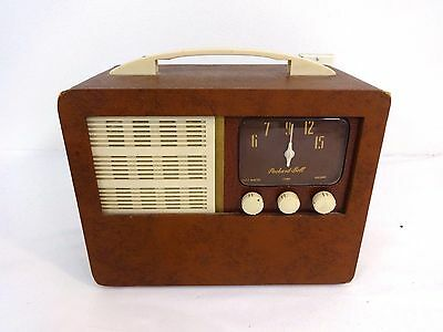 Vintage 1948 Packard Bell Table Tube Am Radio 1948 Works!