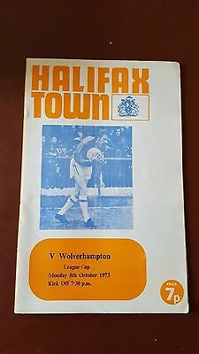 Halifax Town V Wolves 8.10. 1973 - League Cup