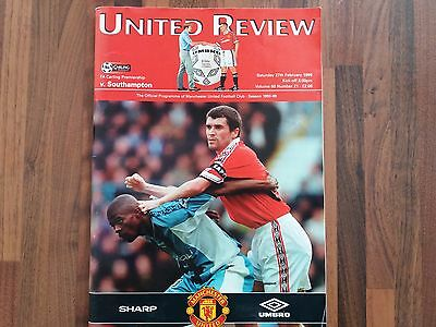 Signed Manchester United Programme