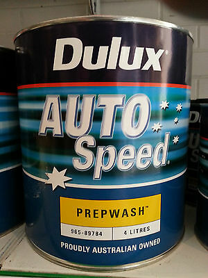 QUALITY PREPWASH / PREPSOL / WAX & GREASE REMOVER 4LT for AUTO PAINT PREPARATION