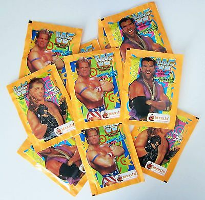 WWF - 1995 Merlin - Sealed Card Packs - Very Rare - Germany Only Release WCW WWE