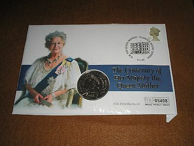 """2000 GB Stamps £5 FIVE POUNDS """"Queen Mother"""" COIN COVER - CLARENCE HOUSE Cancel"""
