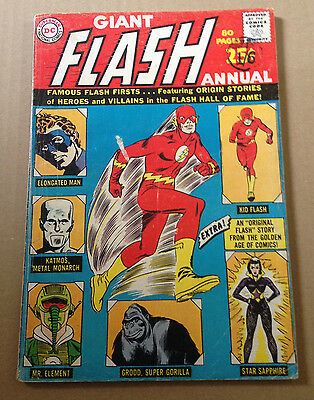 Flash Annual # 1 - Giant Sized / Origin Elongated Man - Dc Silver Age 1963