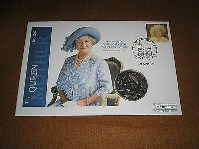 """2002 GB Stamps £5 FIVE POUNDS """"Queen Mother Memorial"""" COIN COVER - WNDSOR Cancel"""