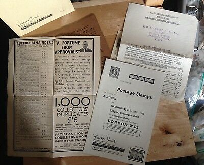 Fascinating Little Lot of Six Paper Ephemera Philately Items from 1960s