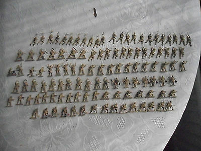 Vintage Airfix HO/OO 1/72 Scale WWII Africa Korps - job lot over 120+ figures