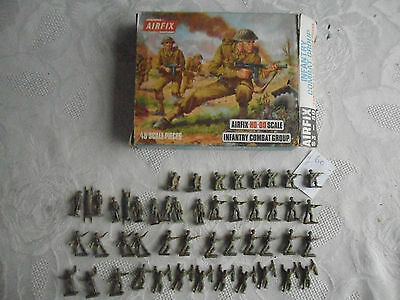 Vintage Airfix HO/OO Scale WWII British Infantry Combat Group - BLUE SIDED BOX