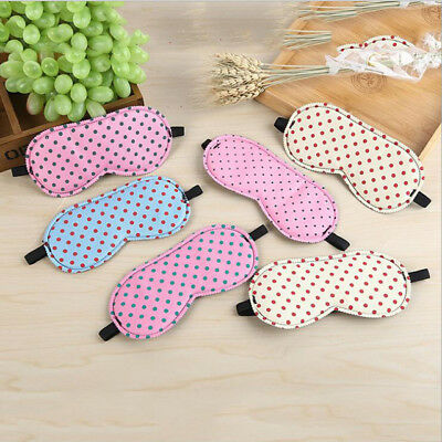 Pretty Polka dot Eye mask sleeping travel masks sleep aid blindfold cover *UK