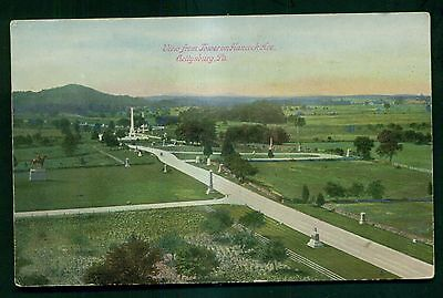 1908 Gettysburg,PA - View from Tower on Hancock Ave. Postcard