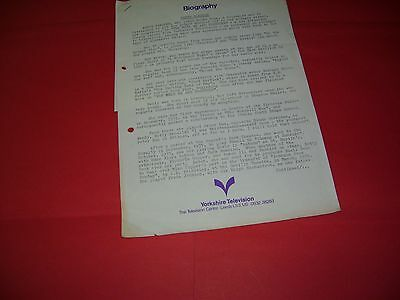 Rare Betty Marsden 1971 More We Are Together Sit Com Yorkshire TV Press Release