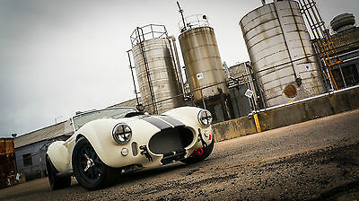1965 Shelby Backdraft RT3 completed by Vintage Motorsports NEW BACKDRAFT RT3 535HP VMS 427 FUEL INJECTION TKO PEPPER WHITE BLACK STRIPES