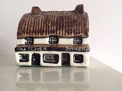 Tey Pottery 'Britain in Miniature' Countryside Collection - Butcher & Baker Shop