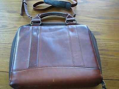 Franklin Covey Vintage Brown Italian Leather 7 Ring Binder/ Planner