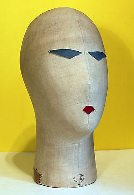 Milliner's Mannequin, Cloth Head, Hat Or Wig Stand, Vintage