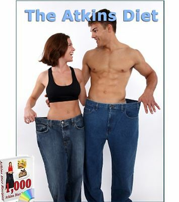 1000, RECIPES Complete Atkins Weight Loss Diet Pack -3 BOOKS CD PDF +FREE BUNUS