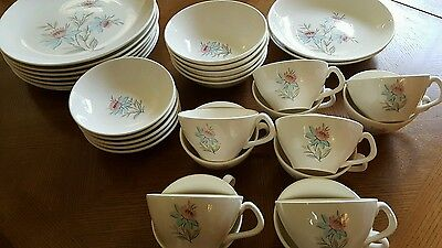 Vintage Steubenville Pottery USA Fairlane Pattern  30 piece lot