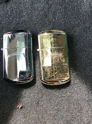 Set Of 2 Vintage Camel Lighters. Gold And Silver