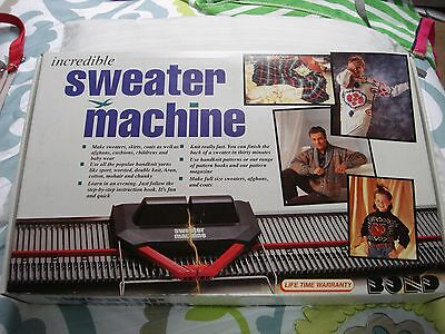 Vintage Incredible Sweater Knitting Machine As Seen On Tv Complete W/ Extras