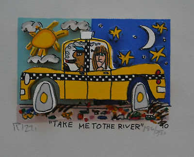"Rarität James Rizzi ""Take me to the River"" v.1990 handsigniert 3d"