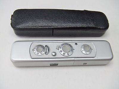 Minox C Subminiature Chrome Camera Working. + Case
