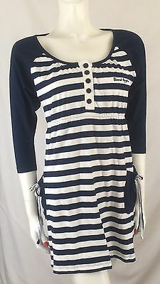 Board Angels Dress Blue & White Striped Summer Beach Cotton Surf Holiday Size 10