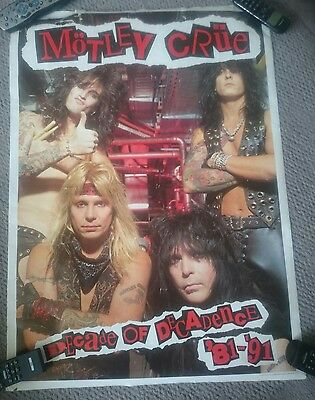 MOTLEY CRUE - Decade of Decadence '81-'91 Huge VINTAGE Official poster Tommy Lee