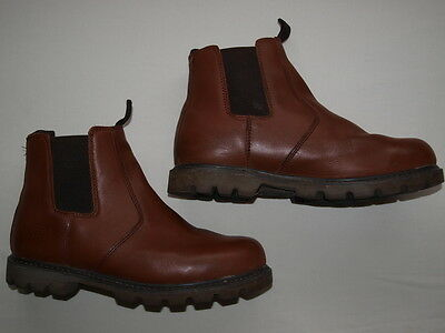 Mens size 10 TOUGH BOOTS Brown Leather Ankle Boots