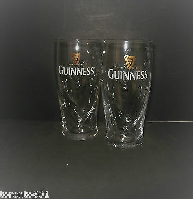 Guinness Half Pint Glasses X 2 , Embossed Harp, 100 % Genuine