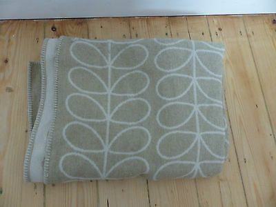 Orla Kiely 100% Pure Lambswool Throw, Natural  150cm x 220cm