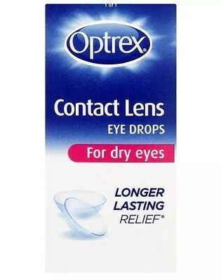 Optrex Contact Lens Drops For Dry Eyes. Free P+P