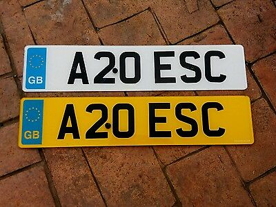 Ford escort inc. Cosworth Car Registration Number Plate