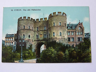 GERMANY-COELN-VINTAGE POSTCARD-No18 HAHNENTOR