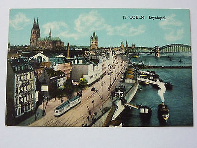 GERMANY-COELN-VINTAGE POSTCARD-No13 LEYSTAPEL