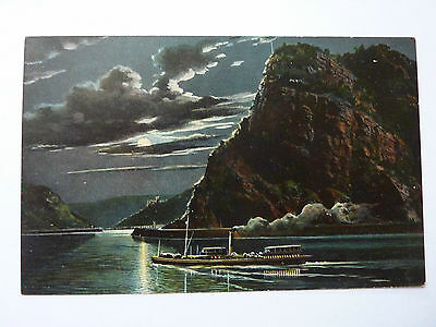 GERMANY-LORELEIFELSEN-VINTAGE POSTCARD-No5091
