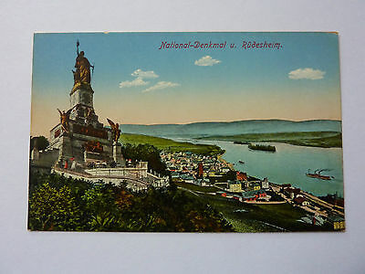Germany-Rudesheim-Vintage Postcard-Nationaldenkmal Ksm844