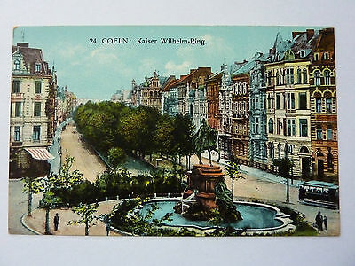 GERMANY-COELN-VINTAGE POSTCARD-No20 KAISER WILHELM - RING