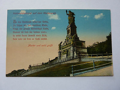 Germany-Niederwald-Vintage Postcard-Nationaldenkmal 8645