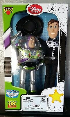 Toy Story Disney store Limited edition Woody and Buzz Lightyear.