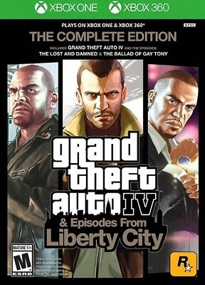Grand Theft Auto IV GTA 4 Complete Edition Xbox One or Xbox 360 New Ships Fast !