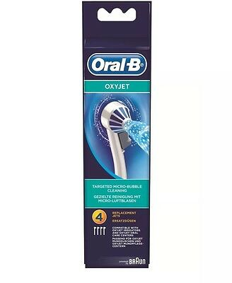 Oral-B Oxyjet Refill Tips - Pack of 4. Free P + P.