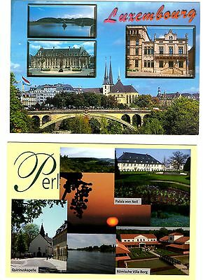 2 new postcards from LUXEMBOURG - Perl (T)