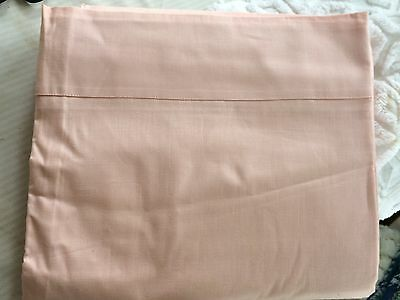 "40'S PINKYPEACH 81"" vint CANNON cotton percale sheet NU old store stock AS FOUND"