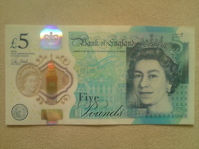 Rare Ak47 Five Pound Note Low Serial Number Fast Dispatch.