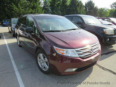 2011 Honda Odyssey 5dr Touring 5dr Touring 4 dr Van Automatic Gasoline V6 Cyl Dark Cherry Pearl