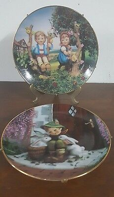 Hummel Apple Tree Boy & Girl  and Play Mates from The Danbury Mint Plates Lmt