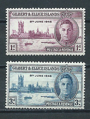 Gilbert & Ellice Islands , Peace Issue , 1946 , Set Of 3 , Perf , Mnh