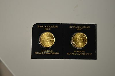 1 Gram Gold Canadian Maple Leaf Coin .9999 from Royal Canadian Mint Distributor
