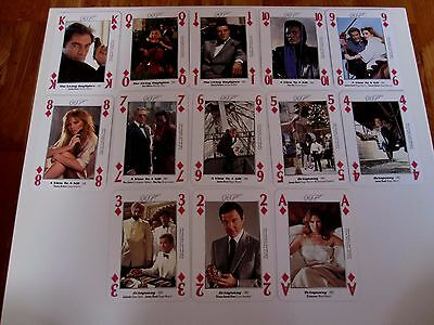Highly Collectable Deck Playing Cards James Bond 007 Characters
